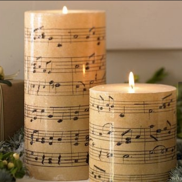 🕯POTTERY BARN MUSIC NOTE CANDLES🕯